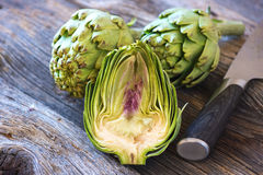 Fresh artichokes Royalty Free Stock Images