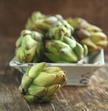 Fresh artichokes Royalty Free Stock Photo