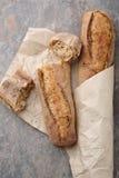 Fresh artizan cereal baguettes Stock Image
