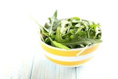 Fresh arugula leafs Royalty Free Stock Photo
