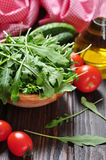 Fresh arugula leaves Stock Photography