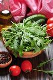 Fresh arugula leaves Royalty Free Stock Images