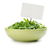 Fresh arugula salad Royalty Free Stock Photo