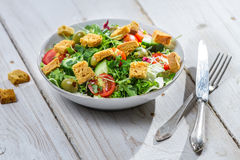 Fresh arugula salad with tomatoes Royalty Free Stock Image