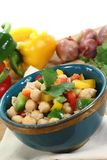 Fresh Asian chickpea salad Royalty Free Stock Photos