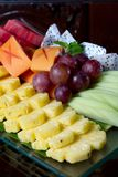 Fresh asian fruit peeled pineapple grape Royalty Free Stock Photos