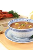 Fresh Asian Lobster Bisque Stock Photo