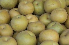Fresh Asian Pears. At the Farmers Market Royalty Free Stock Photos