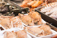 Fresh Asian seafood close up Royalty Free Stock Images