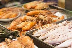 Fresh Asian seafood close up Stock Images
