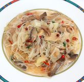 Fresh asian soup with rice noodles Stock Photography
