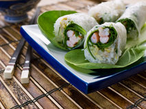 Fresh Asian Spring Roll Stock Images