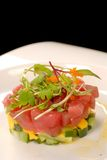 Fresh Asian tuna and mango tartare Stock Image