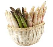 Fresh asparagus in basket Royalty Free Stock Image
