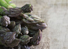 Fresh asparagus bunch close up Royalty Free Stock Image