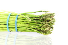 Fresh asparagus bunch in pure white background Stock Image