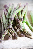 Fresh asparagus closeup Stock Images