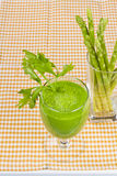 Fresh asparagus juice Royalty Free Stock Photos