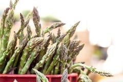 Fresh asparagus at the market Stock Image