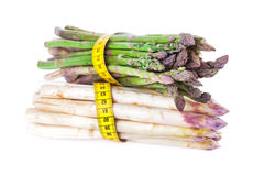 Fresh Asparagus with Measuring Tape Royalty Free Stock Photos