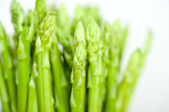Fresh asparagus over white Stock Images