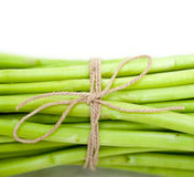 Fresh asparagus over white Royalty Free Stock Photo