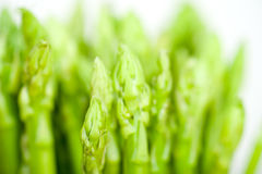 Fresh asparagus over white Royalty Free Stock Images