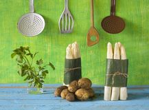 Fresh asparagus, Royalty Free Stock Photos