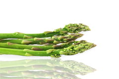 Fresh asparagus in pure white background Royalty Free Stock Photography