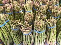 Fresh asparagus  for sale at farmer market Stock Photos