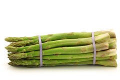 Fresh asparagus shoots in a bundle Royalty Free Stock Image