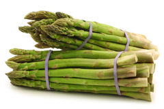 Fresh asparagus shoots in bundles Royalty Free Stock Photography