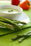 Fresh asparagus soup Stock Photography