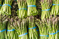 Fresh asparagus stalks at the market Royalty Free Stock Photography