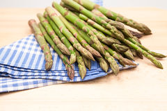 Fresh asparagus stems Royalty Free Stock Images