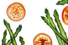 Fresh asparagus and tomato Stock Photo