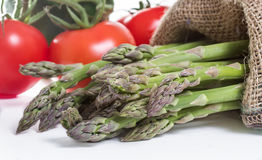 Fresh Asparagus. With Vegetables on a white background Stock Photo