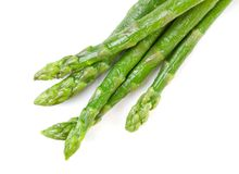 Fresh asparagus on white Stock Images