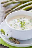 Fresh aspargus soup Stock Photography