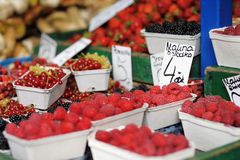 Fresh assorted berries Stock Images