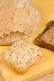 Fresh assorted whole wheat bread Royalty Free Stock Photo