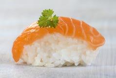 Fresh  atlantic Japanese salmon Sushi Royalty Free Stock Photo