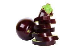 Fresh aubergine Stock Photography