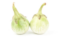 Fresh aubergine. On white background Stock Image