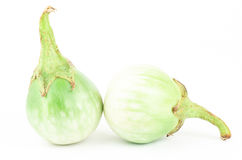 Fresh aubergine. On white background Stock Images