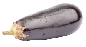 Fresh aubergine on white Stock Photography