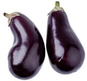 Fresh aubergines Stock Photos