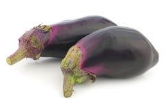 Fresh aubergines Stock Photography