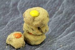 Australias famous cookies. Fresh australias famous cafe cookies royalty free stock photos