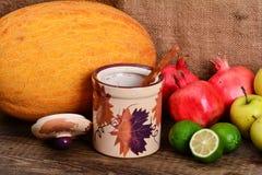 Fresh autumn colorful fruits Stock Image